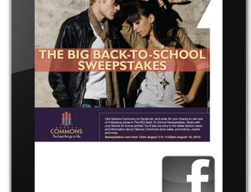 GENEVA COMMONS THE BIG BACK TO SCHOOL SWEEPSTAKES